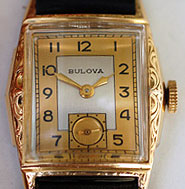 Classic Bulova with two-tone dial, ca. 1948