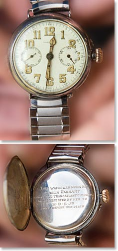 Front and back of Earhard's Watch