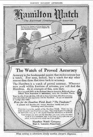 Hamilton Railroad Watch Ad