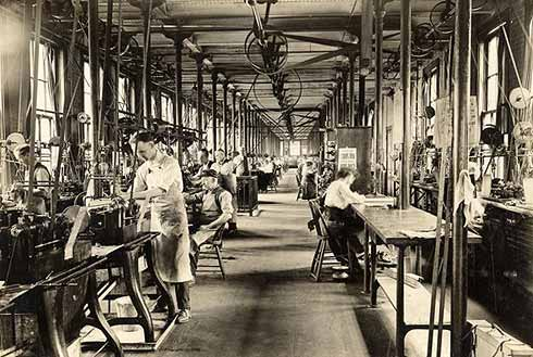 The flat steel room at the Hampden watch factory