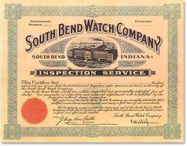 South Bend Watch Company, South Bend, Indiana