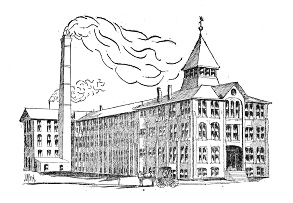 The Trenton Watch Factory, from an 1895 woodcut