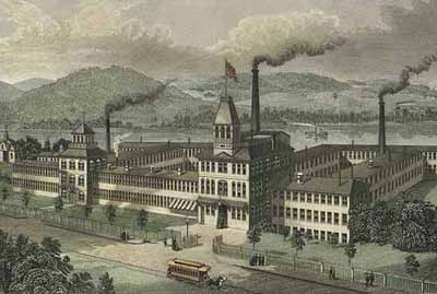 The Waltham Watch Factory on the banks of the Charles River