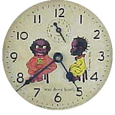 Fake black Americana dial on a Westclox alarm clock