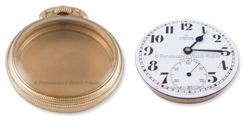 Watch case and movement