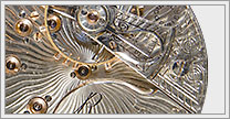 What is Damaskeening on a Pocket Watch Movement?